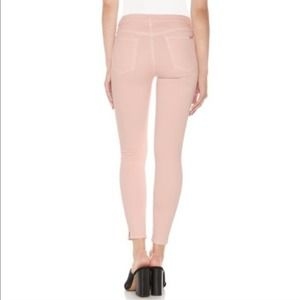 Joe's Jeans Pink High Rise Skinny Ankle NWT flaws